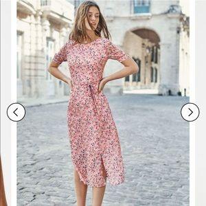BODEN Jane Blossom Print Georgette Midi 8P Petite